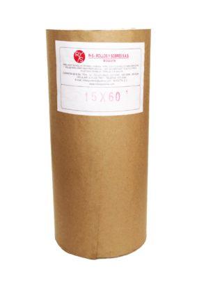 """Rollo de papel Kraft en alto 15"""" (38 cm)"""