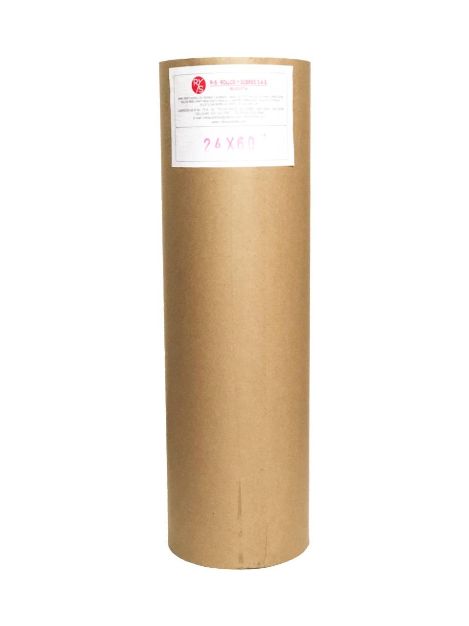 rollos papel kraft 24gr